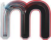 Font illustration letter m — Stock Vector