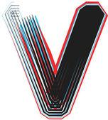 Font illustration letter v — Stock Vector