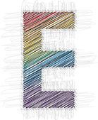 Hand draw font LETTER E — Stock Vector