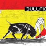 Bullfight illustration — Stock Vector