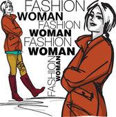 Fashion woman illustration — Stock Vector