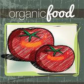 Organic Food illustration — Vector de stock