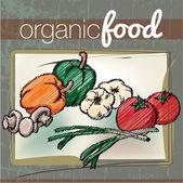 Organic Food illustration — Stock Vector