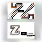 Business card design with letter Z — Stock Vector