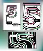 数は 5 とビジネス カードのデザイン — ストックベクタ