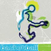 Basketbalspeler in actie — Stockvector
