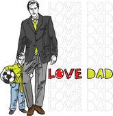 Dad love — Stock Vector