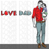 Dad love — Stock Vector