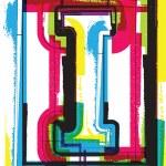 Colorful Grunge Font LETTER I — Stock Vector #47715249