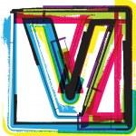 Colorful Grunge Font LETTER V — Stock Vector #47715685