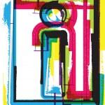 Colorful Grunge Font LETTER i — Stock Vector #47716071