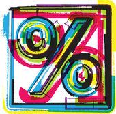 красочные гранж символ — Cтоковый вектор