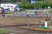 Start of the Russian Championship of Motocross among motorcycles and ATVs — Stock Photo