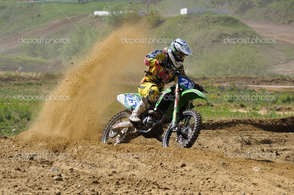 Russian Championship motocross motorcycles and ATVs  Stock Photo #13694824