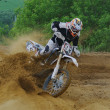 Russian Championship motocross motorcycles and ATVs — Stock Photo