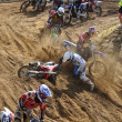 Stock Photo: Accident on RussiChampionship of Motocross among motorcycles and ATVs