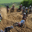 Accident on the Russian Championship motocross motorcycles and ATVs — ストック写真
