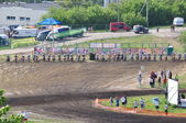 Start of the Russian Championship motocross motorcycles and ATVs — Stock Photo