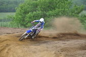 Russian Championship of Motocross among motorcycles and ATVs — Fotografia Stock