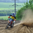 Russian Championship of Motocross among motorcycles and ATVs — 图库照片