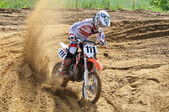 Russian Championship motocross motorcycles and ATVs — Stockfoto
