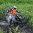ストック写真: Russian championship trophy raid among ATVs and motorcycles