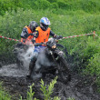 Foto de Stock  : Russian championship trophy raid among ATVs and motorcycles