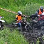 Russische kampioenschap trofee raid onder ATV's en motorfietsen — Stockfoto