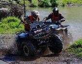 Russian championship trophy raid among SUVs, ATVs and motorcycles — Stock Photo
