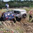 Accident on the Russian Championship motocross motorcycles and ATVs - Stock Photo