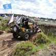 Russian championship trophy raid among SUVs, ATVs and motorcycles. - Stock Photo