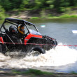 Russian championship trophy raid among SUVs, ATVs and motorcycles. — Stock Photo