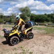 Russian championship trophy raid among  ATVs and motorcycles - Stock Photo