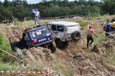 Accident on the Russian Championship motocross motorcycles and ATVs — Stock Photo