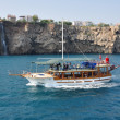 Tourist boat from the Turkish coast — Stock Photo