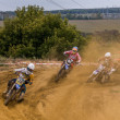 Russian Championship of Motocross among motorcycles and ATVs — Stock Photo #31639793