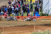 Russian Championship of Motocross among motorcycles and ATVs — Stock Photo