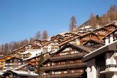 Zermatt town in Switzerland — Stock Photo