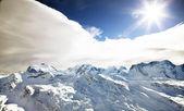 Winter sunny landscape — Stock Photo