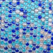 Stock Photo: Round blue glass mosaic pattern