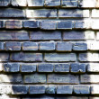 Black and white brick wall background — Stock Photo