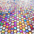 Round glass mosaic tile — Stock Photo