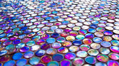 Glass nacreous round glossy mosaic tile — Stock Photo