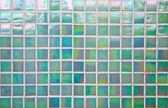 Nacreous green mosaic tile — Stock Photo