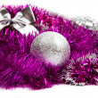 Pink christmas decorations — ストック写真
