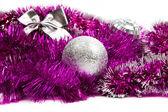 Rosa weihnachtsschmuck — Stockfoto