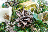 Christmas composition with fir cone — Stockfoto