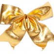 Golden Christmas bow — Stock Photo