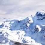 Snow winter landscape in winter in Switzerland — Stock Photo