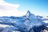 Pico matterhorn no inverno na suíça — Foto Stock